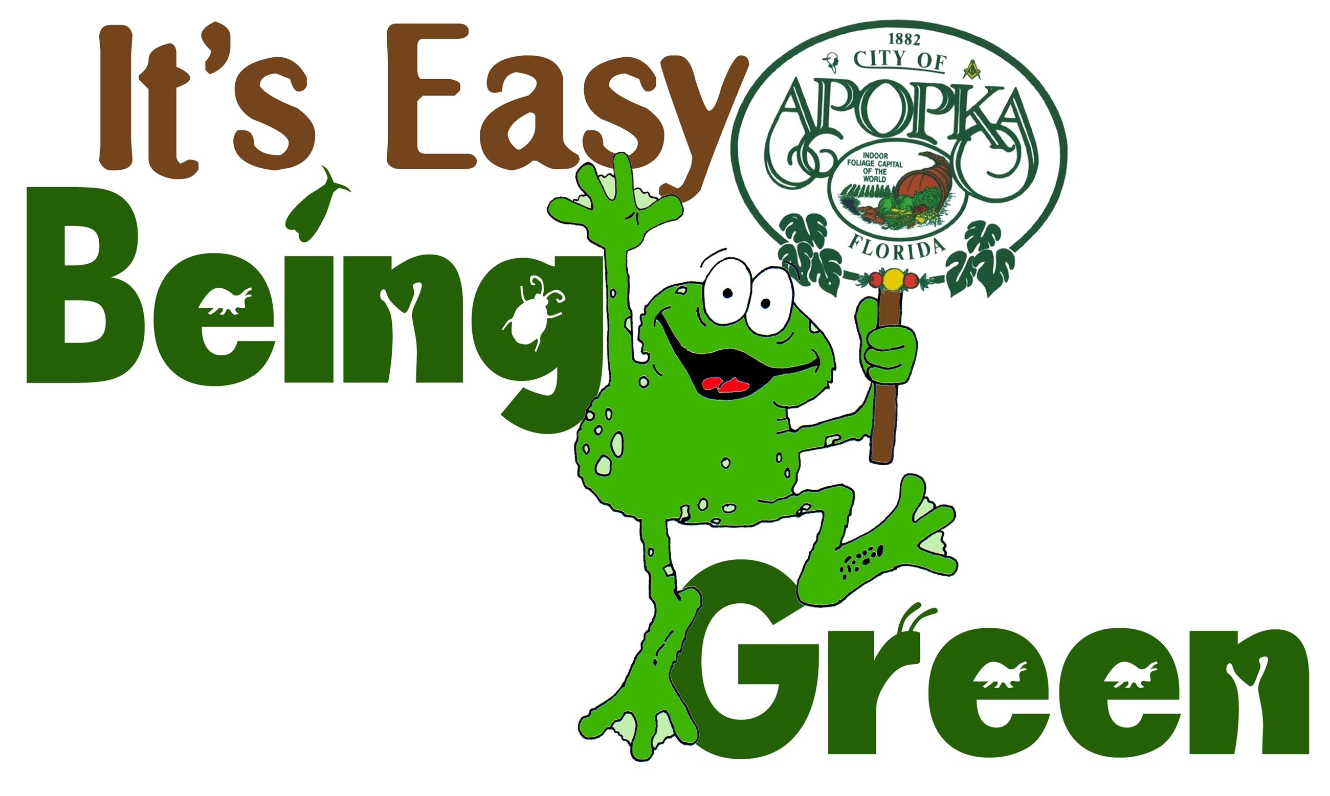 Easy Being Green logo.